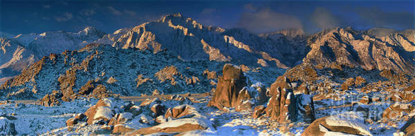 Photograph - Panoramic Winter In The Alabama Hills Eastern Sierras California by Dave Welling