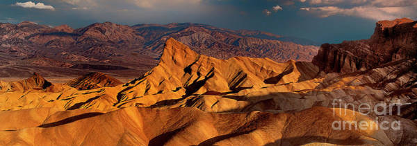 Photograph - Panoramic Zabriski Point Death Valley National Park by Dave Welling
