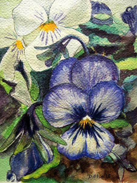 Wall Art - Painting - Pansies by Chrissey Dittus