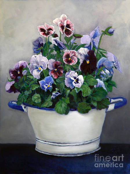 Wall Art - Painting - Pansies by Portraits By NC