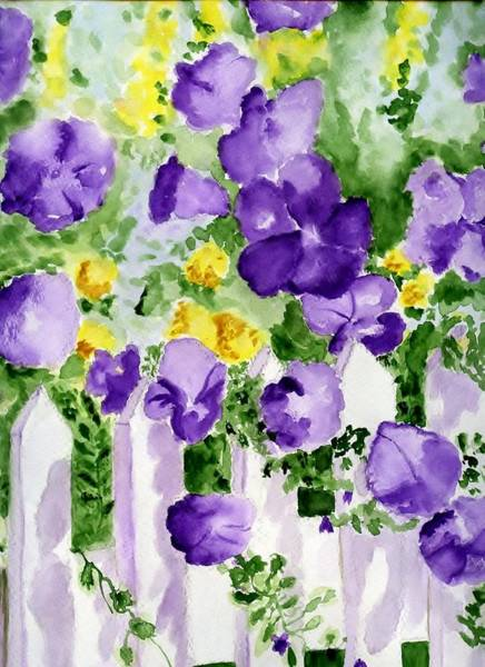 Snap Dragons Wall Art - Painting - Pansies by Jamie Frier