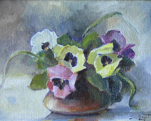 Painting - Pansies by Tigran Ghulyan