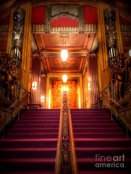 Photograph - Pantages Theater's Grand Staircase by Jenny Revitz Soper