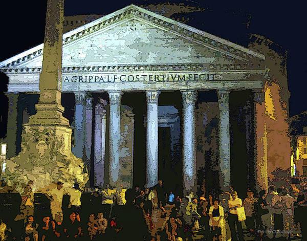 Photograph - Pantheon At Night by Coleman Mattingly