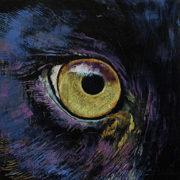 Wall Art - Painting - Panther Eye by Michael Creese