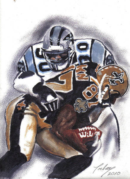 Panthers Vs Saints Art Print by Torben Gray
