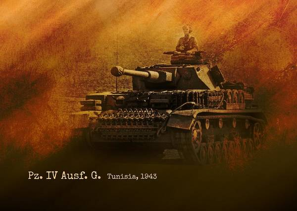 Tunisia Digital Art - Panzer 4 Ausf G by John Wills