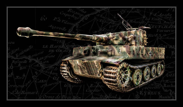 Wall Art - Photograph - Panzer Tiger I Side Bk Bg by Weston Westmoreland