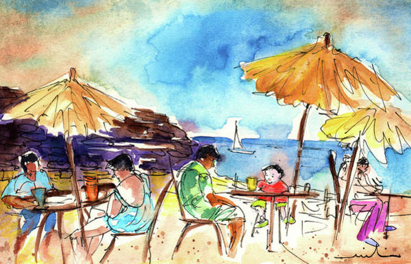 Painting - Papagayo Beach Bar In Lanzarote by Miki De Goodaboom