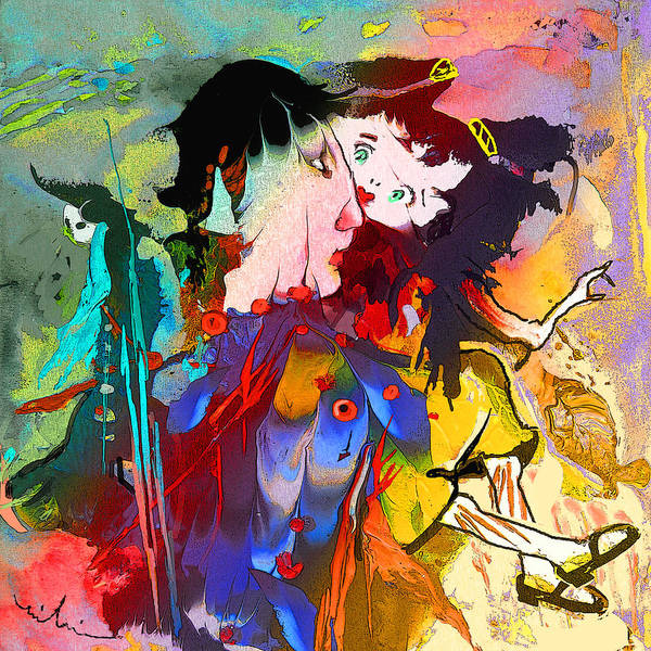 Painting - Papageno And Papagena by Miki De Goodaboom