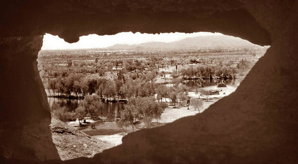 Photograph - Papago Park Rock Window 1950s by Marilyn Hunt