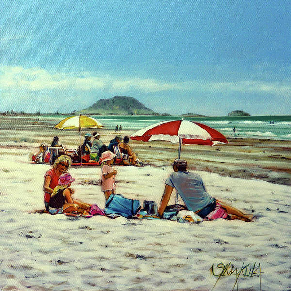 Painting - Papamoa Beach 150309 by Sylvia Kula