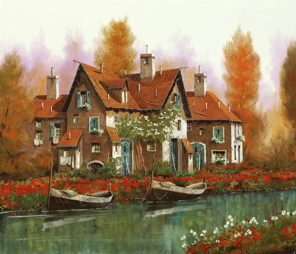 Wall Art - Painting - Papaveri Al Torrente by Guido Borelli