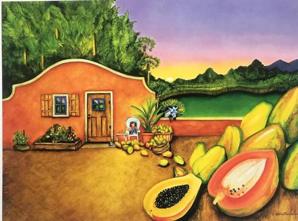 Painting - Papaya Maya by William T Templeton