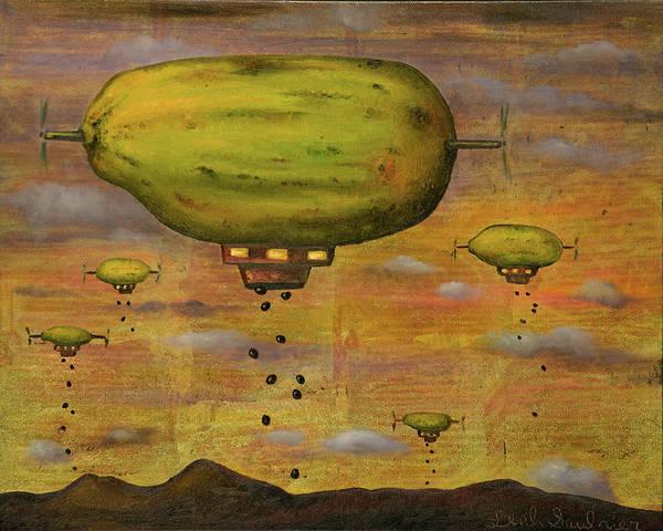 Painting - Papaya Sunset by Leah Saulnier The Painting Maniac