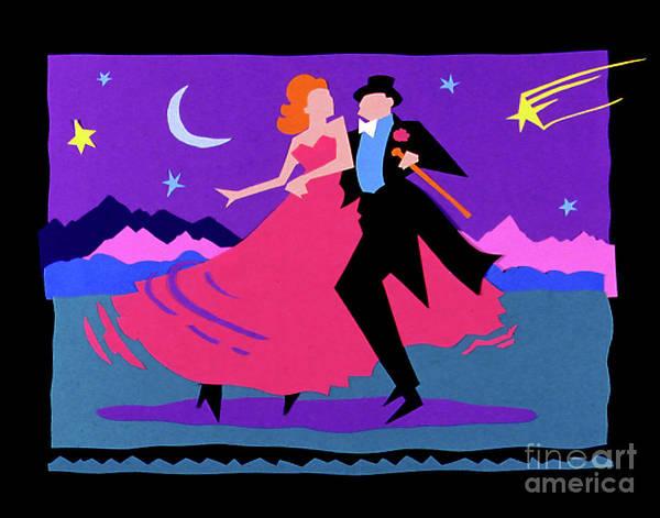 Paper Dress Mixed Media - Paper Ballroom Dancers by Don Locke