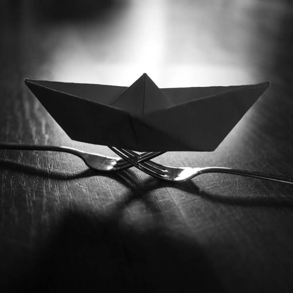 Wall Art - Photograph - Paper Boat Forks by Janine Pauke