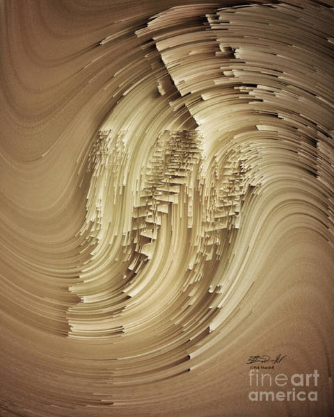 Digital Art - Paper Dune by Rob Mandell