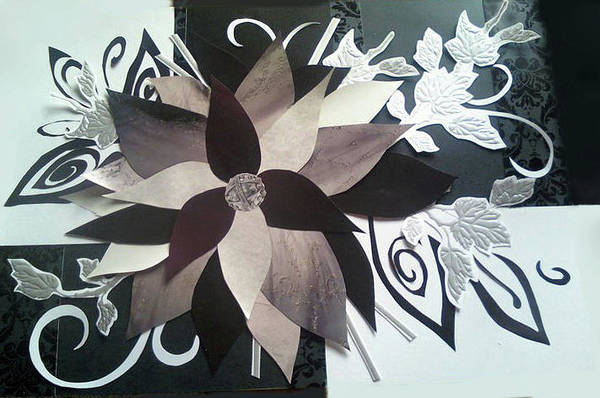 Paper Dress Mixed Media - Paper Flower by Emily Perry