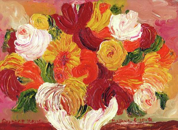 Leclair Painting - Paper Flowers by Suzanne  Marie Leclair