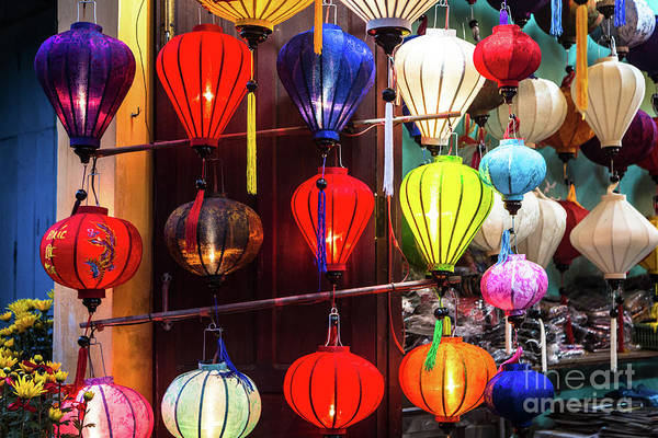 Photograph - Paper Lanterns In Hoi An by Didier Marti