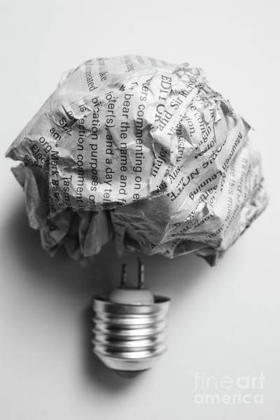 Photograph - Paper Light Bulb by Jorgo Photography - Wall Art Gallery