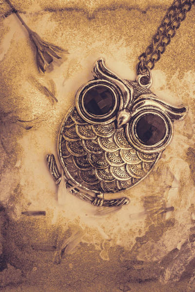 Jewels Digital Art - Paper Pendant Owl by Jorgo Photography - Wall Art Gallery