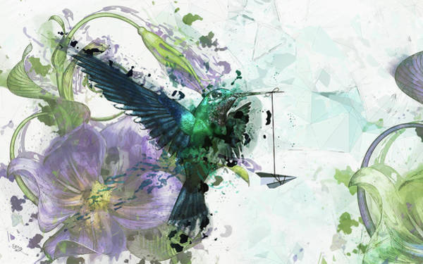 Meditation Digital Art - Paper Planes And Promises by Cameron Gray