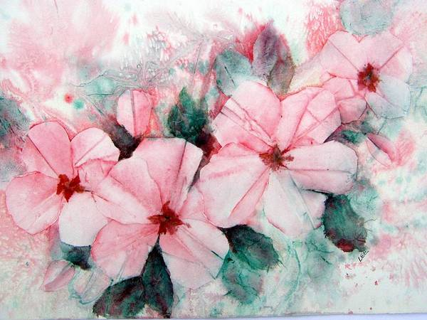Painting - Paper Roses by Pamela Lee