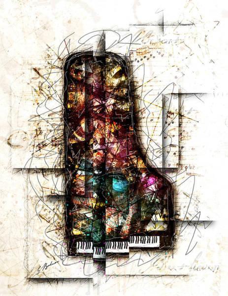 Grand Piano Digital Art - Concerto I by Gary Bodnar