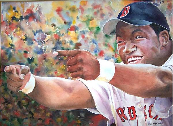Hitter Painting - Papi by Dan McCole