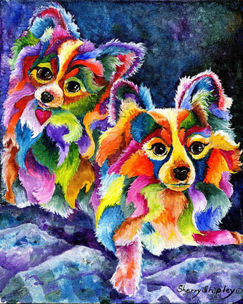 Painting - Papillion Pair by Sherry Shipley