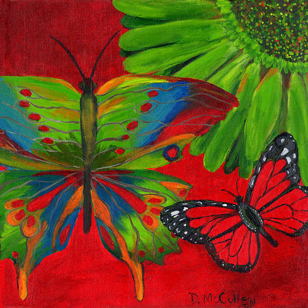 Gerbera Painting - Papillon Rouge by Debbie McCulley