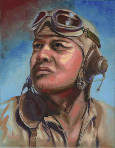 Painting - Pappy Boyington by David Bader