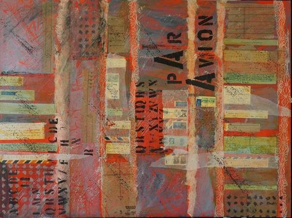 Painting - Par Avion by Jillian Goldberg