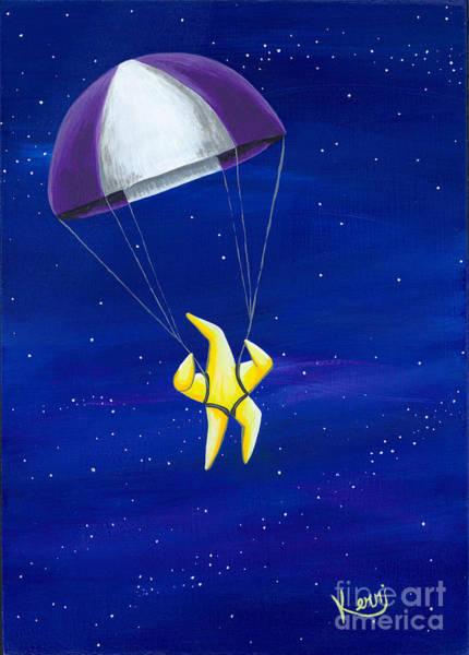 Skydive Painting - Para-shooting Star #4 by Kerri Ertman