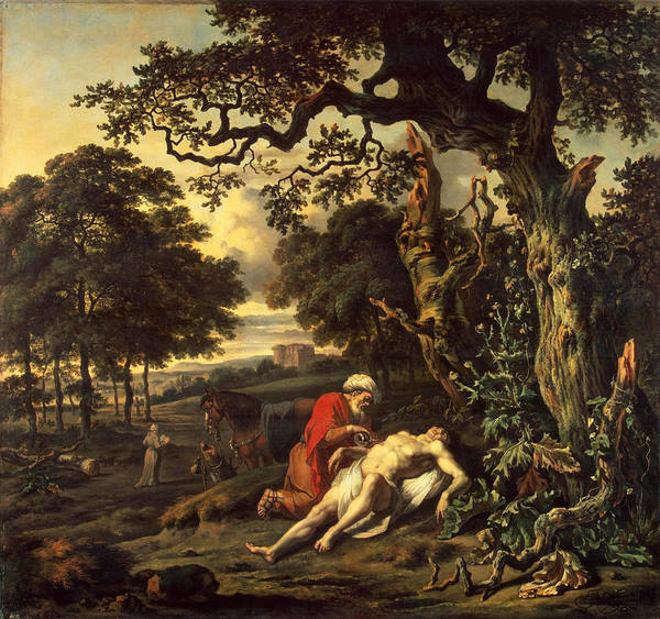 Wall Art - Painting - Parable Of The Good Samaritan by Jan Wijnants