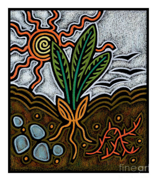 Painting - Parable Of The Seed - Jlpar by Julie Lonneman