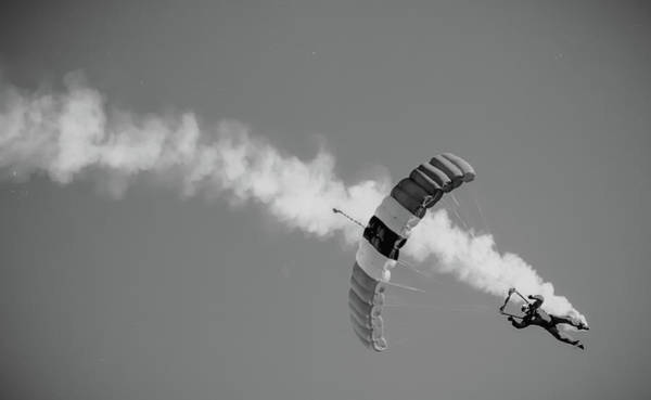 Skydiver Photograph - Parachute In by Martin Newman