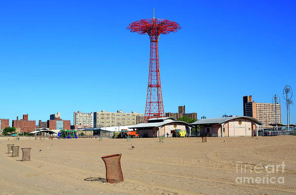 Photograph - Parachute Jump At Coney Island by John Rizzuto