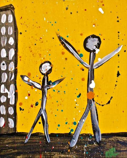 Painting - Parades 1 by Mario MJ Perron