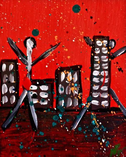 Painting - Parades 3 by Mario MJ Perron