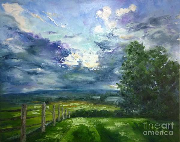 Painting - Paradigm Shift- From Earth To Sky by Lori Pittenger
