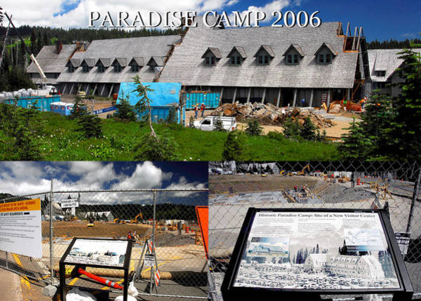 Wall Art - Photograph - Paradise Camp Construction 2006 by David Lee Thompson