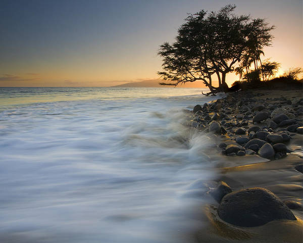 Maui Sunset Wall Art - Photograph - Paradise Gold by Mike  Dawson