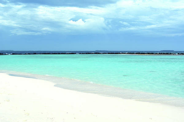 Photograph - Paradise Landscape With Clear Blue Water In The Maldives by Oana Unciuleanu