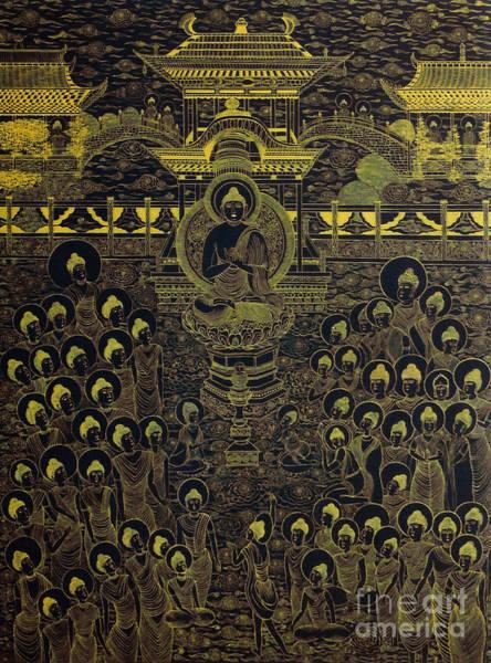 Painting - Paradise Of Holy Sakyamuni by Fei A