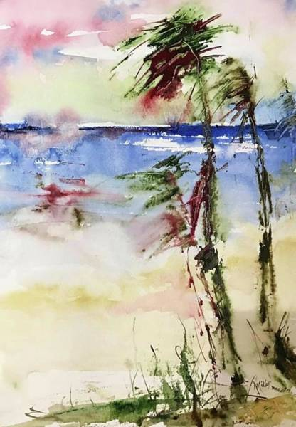 Painting - Paradise Palms by Robin Miller-Bookhout