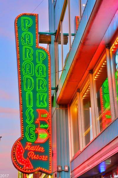 Photograph - Paradise Park Nashville Sign by Lisa Wooten