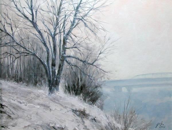 Wall Art - Painting - Paradise Point Bridge Winter by Jim Gola